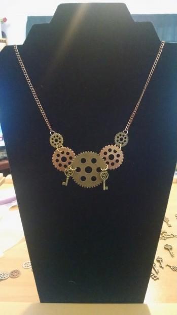 Gears & Keys Necklace--$20