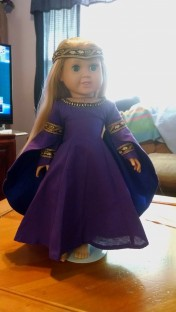 Purple & Blue Renaissance Doll--Doll $60, Outfit Only-$30