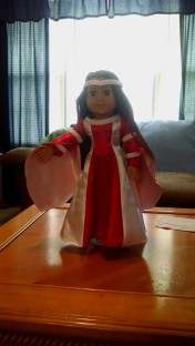 Red & White Renaissance Doll--Doll- $60, Outfit Only-$30